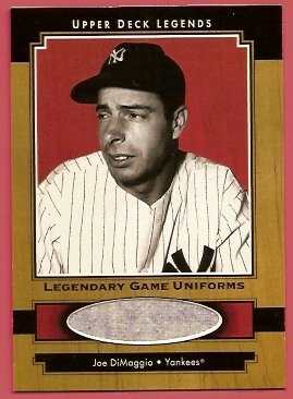 2001 Upper Deck Legends Legendary Game Jersey #JJD Joe DiMaggio Uni SP/245 *