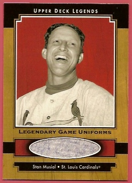 2001 Upper Deck Legends Legendary Game Jersey #JSM Stan Musial Uni SP/490 *