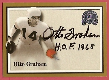 2000 Greats of the Game Gold Border Autographs #24 Otto Graham
