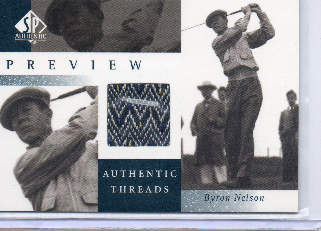 2001 SP Authentic Preview Authentic Threads #BNAT Byron Nelson
