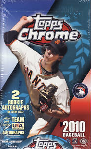 2010 Topps Chrome Baseball Factory Sealed HOBBY Series Box With 2 Rookie Autograph ( Possible Stephen Strasburg Jason Heyward ) Cards Per Box - In Stock Now