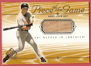 2001 SP Game Bat Edition Piece of the Game #CR Cal Ripken SP