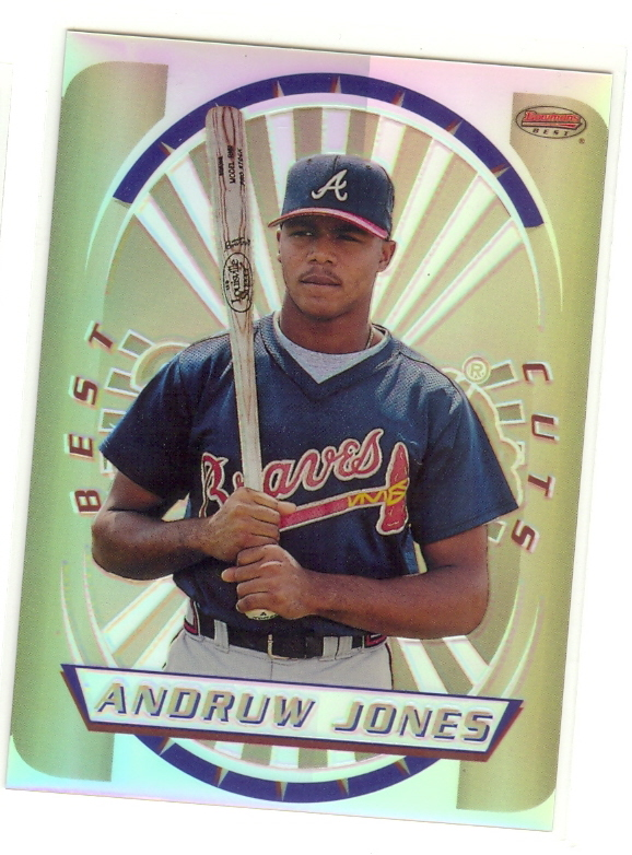 1996 Bowman's Best Cuts Refractors #4 Andruw Jones (UNCUT)