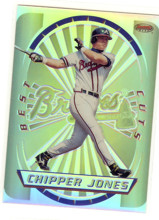 1996 Bowman's Best Cuts Refractors #5 Chipper Jones (UNCUT)