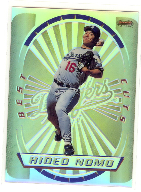 1996 Bowman's Best Cuts Refractors #8 Hideo Nomo (UNCUT)