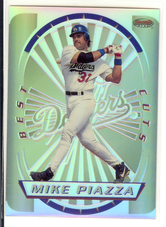 1996 Bowman's Best Cuts Refractors #9 Mike Piazza (UNCUT)