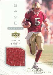 2001 Upper Deck Pros and Prospects Game Jersey #JG-J, Jeff Garcia