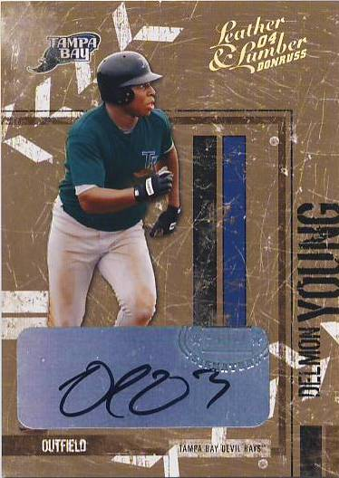 2004 Leather and Lumber Signatures Bronze #140 Delmon Young/5