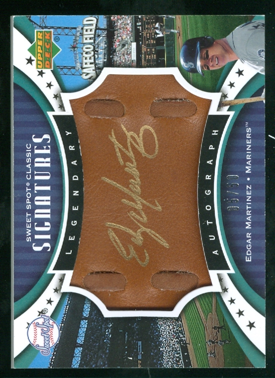 2007 Sweet Spot Classic Signatures Leather Gold Ink #EM Edgar Martinez/50