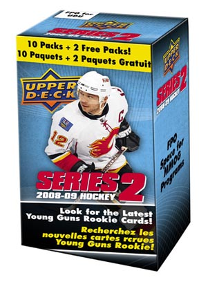 2008 - 09 ( 2009 ) Upper Deck Series Two ( 2 ) Hockey Blaster Box With 10 Packs + 2 Free Packs Per Blaster Box With Possible Autographs & Jersey Cards - In Stock Now