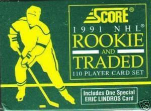 1991 - 92 ( 1992 ) Score Rookie & Traded Hockey Complete Factory Sealed Set With 110 Cards Including 1 Special Eric Lindros Card - In Stock Now
