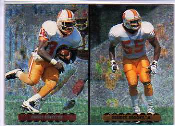 1996 Upper Deck Silver Helmet Cards #NC4 E.Rhett/D.Brooks