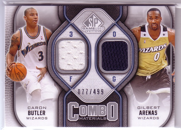 2009-10 SP Game Used Combo Materials #CMAB Gilbert Arenas/Caron Butler