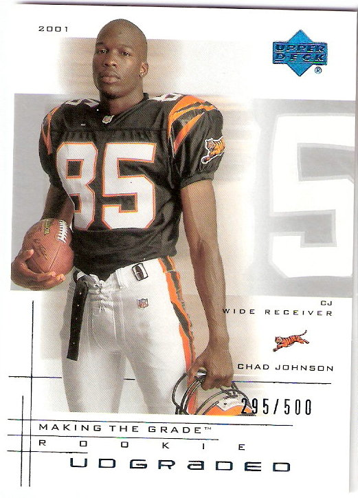 2001 UD Graded #48P Chad Johnson Portrait RC