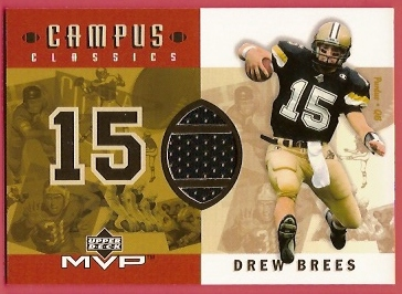2001 Upper Deck MVP Campus Classics Game Jerseys #CCDB Drew Brees