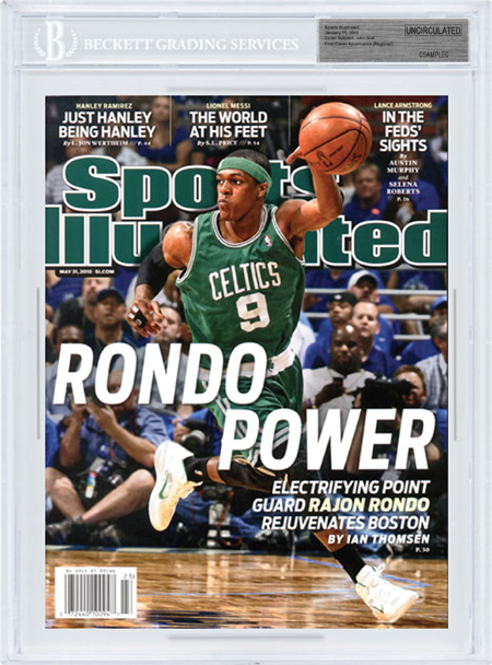 SPORTS ILLUSTRATED BGS SI Uncirculated RAJON RONDO 5/31/10 CELTICS front image