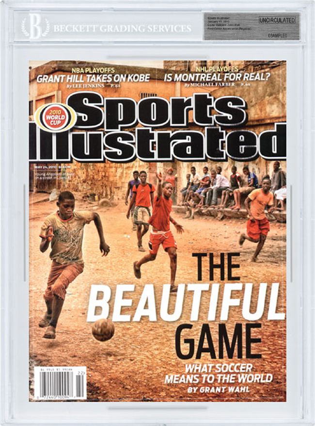 SPORTS ILLUSTRATED BGS SI Uncirculated 2010 WORLD CUP SOCCER 5/24/10 front image