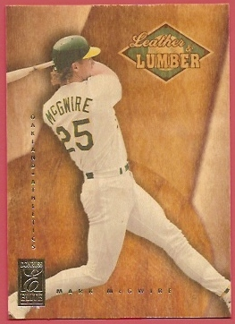 1997 Donruss Elite Leather and Lumber #10 Mark McGwire