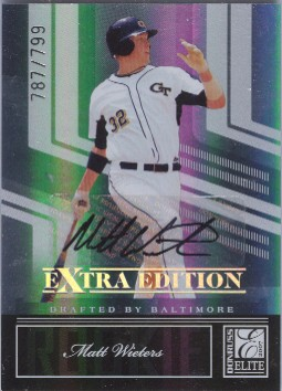 2007 Donruss Elite Extra Edition #120 Matt Wieters AU/799