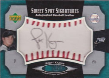 2005 Sweet Spot Signatures Red Stitch Black Ink #SK Scott Kazmir/350