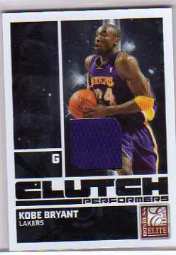 2009-10 Donruss Elite Clutch Performers Jerseys #5 Kobe Bryant/99