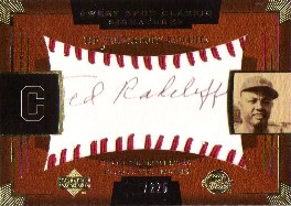 2004 Sweet Spot Classic Signatures Black #58 Ted Radcliffe/225