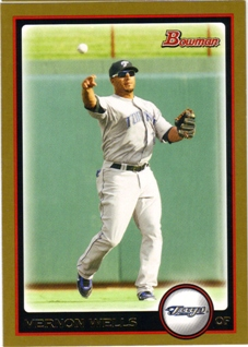 2010 Bowman Gold #107 Vernon Wells