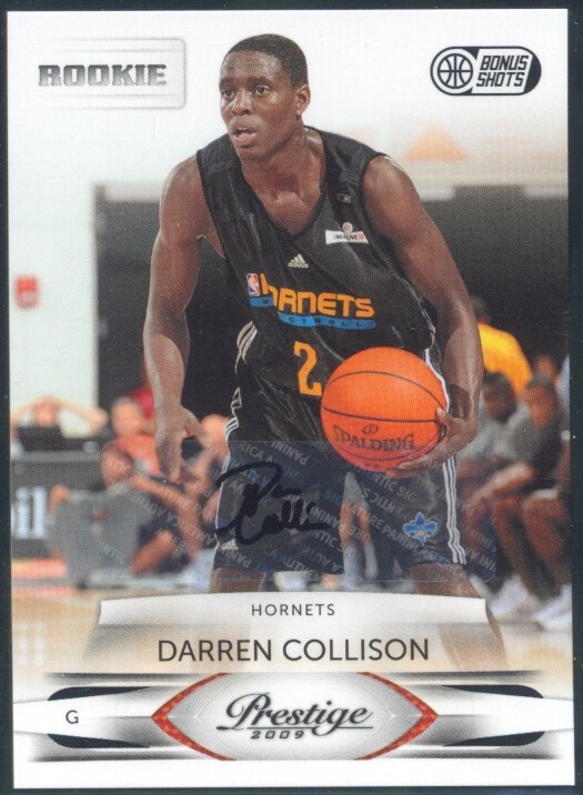 2009-10 Prestige Bonus Shots Black Signatures #221 Darren Collison/50