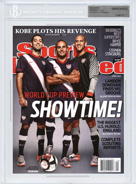 SPORTS ILLUSTRATED BGS SI Uncirculated CLINT DEMPSEY LANDON DONOVAN TIM HOWARD front image