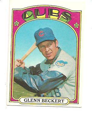 1972 Topps #45B Glenn Beckert Green under C and S