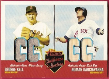 2002 Topps Heritage Clubhouse Collection Duos #CC2KR George Kell Jsy/Nomar Garciaparra Bat