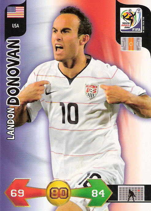 2010 Adrenalyn XL World Cup #64 Landon Donovan