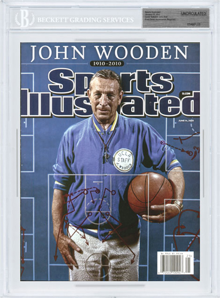 SPORTS ILLUSTRATED BGS SI Uncirculated JOHN WOODEN 6/14/10