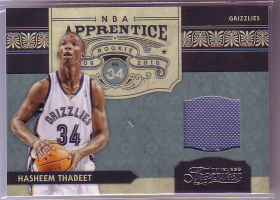 2009-10 Timeless Treasures NBA Apprentice Materials #2 Hasheem Thabeet