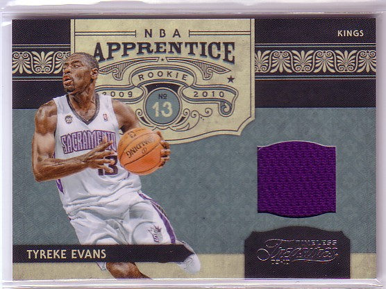 2009-10 Timeless Treasures NBA Apprentice Materials #4 Tyreke Evans