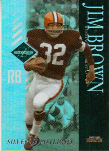 2003 Leaf Limited Silver Spotlight #19 Jim Brown