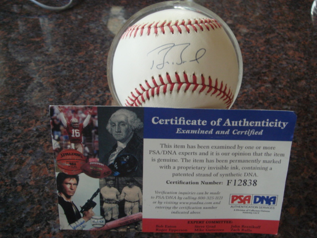 Barry Bonds Autographed Official NL Baseball With PSA COA