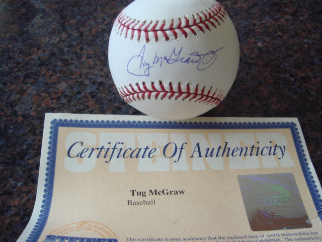Tug McGraw Autographed Official MLB Baseball with Steiner COA