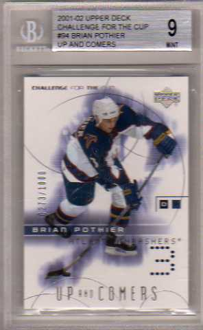 2001-02 UD Challenge for the Cup #94 Brian Pothier RC