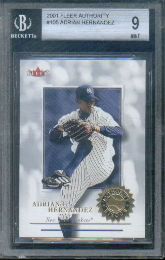 2001 Fleer Authority #105 Adrian Hernandez RC