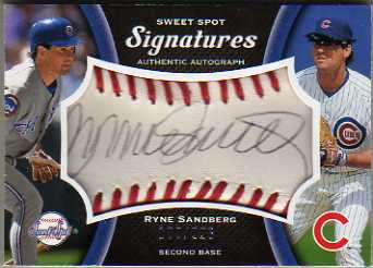 2008 Sweet Spot Signatures Red Stitch Black Ink #RS Ryne Sandberg/226