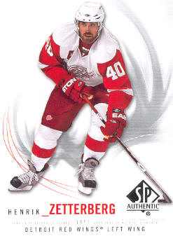2009-10 SP Authentic #12 Henrik Zetterberg
