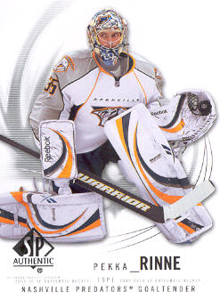 2009-10 SP Authentic #23 Pekka Rinne