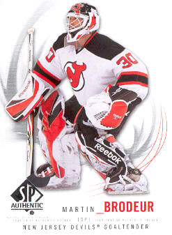 2009-10 SP Authentic #30 Martin Brodeur