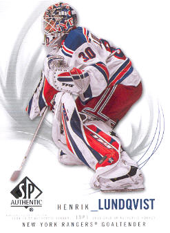 2009-10 SP Authentic #49 Henrik Lundqvist