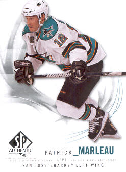 2009-10 SP Authentic #52 Patrick Marleau