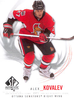 2009-10 SP Authentic #60 Alex Kovalev