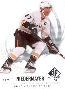 2009-10 SP Authentic #77 Scott Niedermayer
