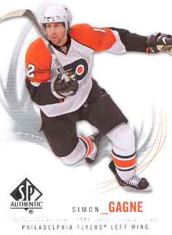 2009-10 SP Authentic #78 Simon Gagne