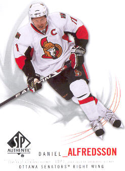 2009-10 SP Authentic #95 Daniel Alfredsson